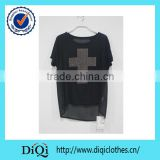 2014 alibaba china clothing woman plus size chiffon beaded t shirt cool summer t shirt wholesale