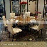 JT03-01 Round Rotating Dining Table with Lazy Susan in Dining Room from JL&C Luxury Home Furniture New Designs 2015