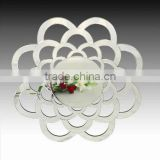Bevelled Romantic Flower Glass Round Wall Mirror Art Wall Decor, Hotel /Livin Room Mirror for Home