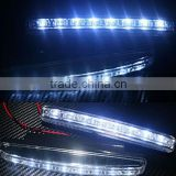 High quality Moderate Brightness A Pair of 8 White LED Car Daytime Running Lights