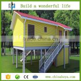HEYA INT'L low-cost ready made portable steel prefabricated building materials mobile home with stilts