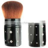 combined with diamond balck handle cosmetic brush