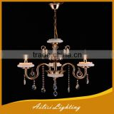 Wholesale High Quality Crystal Candle Chandelier with White Ceramic Plate