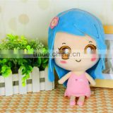 "Carephilly Authorize Customize Stuffed Human Doll Long Hair Girl 4.65"" Soft Plush Toy For Branding"