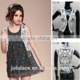 Hollow Sleeveless Lace Embroidery Tops &Summer Crochet Tops Vest&Lace Blouse