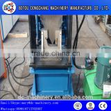 Steel gutter downspout cold roll forming machine