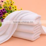 New design white cotton mens handkerchief/100% cotton plain border hand towel