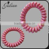 Telephone Fabric Stripe line pink Color Elastic Cord Bracelet Ponytail Holders Hair Accessories Scrunchies For Girl FHHTA0012