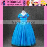 2015 factory direct elegant baby girl Princess dress long style sleeveless cheaper cinderella brand girls dresses