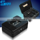 portable safe box with key lock can be cash box
