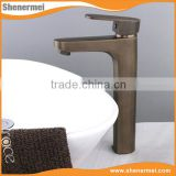 Professional Maker Antique brass cheap bathroom ce basin faucets