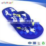 2017 new design good quatity outdoor summer Children slipper cartoon butterfly printing Flip flops boysfootwear
