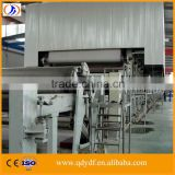 ZYDF2100A-4W3 high quality fourdrinier multi-cylinder wood logs and wheat straw pulping process kraft cardboard paper machine