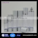 30ml 50ml 80ml 100ml 120ml black round plastic cosmetic matt silver cosmetic airless pump frosted bottle manufacturer