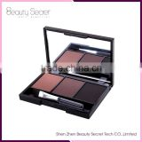 Hot Sale 3 Color Eye Brow Kit waterproof eyebrow powder with brow brush