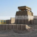 Military defence sand wall hesco bastion hot dipped galvanized wire welded sand filled hesco type barrier