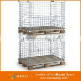 Aceally Stackable storage zinc metal EUR standard cage pallet with good price