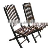 High quality bamboo folding chair, outdoor furniture made in Vietnam