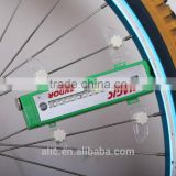 Bicycle LED wire spoke light on wheel