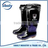 cheap Rain boot pvc injection men outdoor working boots with warm sock