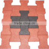 red face dog-bone pavers rubber bricks 43mm