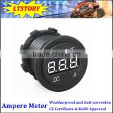 Waterproof digital ammeter for car 12V 24V