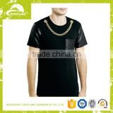 Latest Hip Hop Extra Long Leather Sleeve Tshirt Wholesale