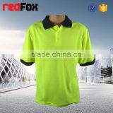 cotton blank t-shirts children yellow short-sleeved sport warning security t-shirt roadway safety t-shirt