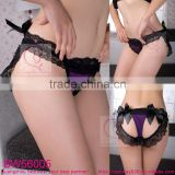 Fashion thongs g strings with black lace & bow in stock wholesale