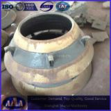 hIgh manganese steel cone crusher bowl liner concave and mantle terex finlay metso parts HP300 GP300cones