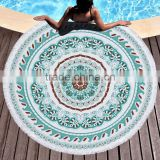 Indian Mandala Round Roundie Beach Throw Tapestry Hippy Boho Gypsy Cotton Tablecloth Beach Towel Round Yoga Mat