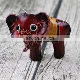 Mini Animal elephant leather keychains
