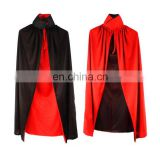Whole Black and Red Halloween Party Cape Vampire Cape Double Layer Cape for Adult Halloween Costumes