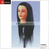 Brown Salon Mannequin Hairdressing Long Real Hair Cutting Training Head