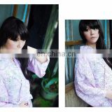 Chinavictor Summer Wear 100% Cotton Women Adult Free Size Japan Bathrobes