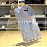 Acrylic T-shirt holder L frame display rack dekstop stand,Plexiglass Jersey Display holder