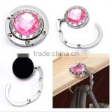 Crystal Table Folding Bag Purse Handbag Hook Hanger Holder Wholesales 24 Colors