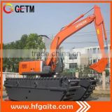 Hitachi construction machinery supplier high quality Q345B steel fabricated pontoon of amphibious excavator