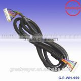 JST 10 pin connector 2.54 pitch UL2464 22# power cable assembly