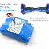 4.4Ah 36V rechargeable samsung battery pack for Hoverboard                                                                         Quality Choice