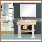 2015 AQUARIUS white&small bathroom cabinet vanity/wall-mounted/mirror with aluminum frame