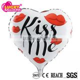 OEM acceptable SGS approved rich designs 18 inch heart shape wedding decoration foil balloon