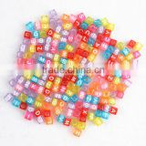 DIY acrylic Transparent cube alphabet letter beads                                                                         Quality Choice