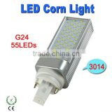 Dimmable G24 LED Light 6W 3014 SMD 55 LEDs