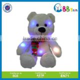 2015 New design Factory direct light up LED teddy bear plush toy