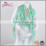 custom ladies beautiful beach scarf shawls high quality chiffon digital printing scarf wholesaler