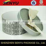 fancy design & customized round wedding gift box paper packagings, carboard paper box packaging with ribbon