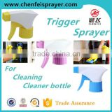 Plastic trigger sprayer long handle discharge rate 1ML nozzle ribbed closure custom trigger sprayer pump sprayer trigger china