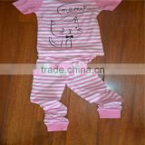 Funncy Style Long Sleeve Latest Embroidery Designs Suits, high quality baby/children clothing/pyjamas children suit