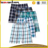 Soft quick dry breathable trendy lattice men 100% polyester swim shorts                                                                                                         Supplier's Choice